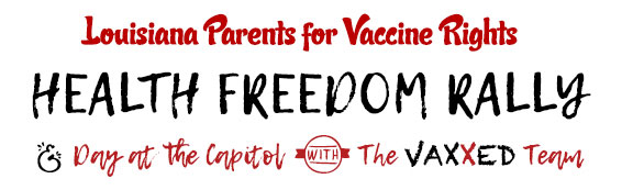 Flyer Header For Louisiana Parents For Vaccine Rights